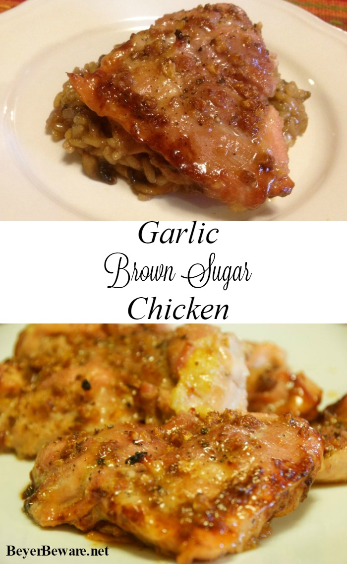 Garlic brown sugar chicken is a simple chicken recipe, full of flavor with less than 5 ingredients and can be on the table in 30 minutes.