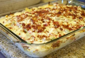 Hunk of Meat Monday: Chicken Bacon Ranch Pizza Casserole