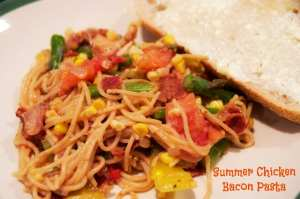 Summer Chicken Bacon Pasta