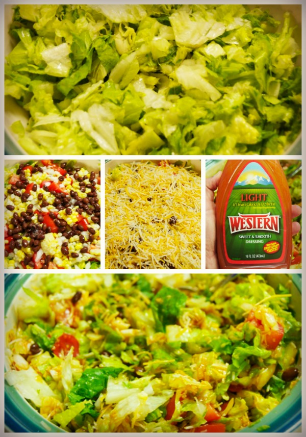 taco salad - lettuce base