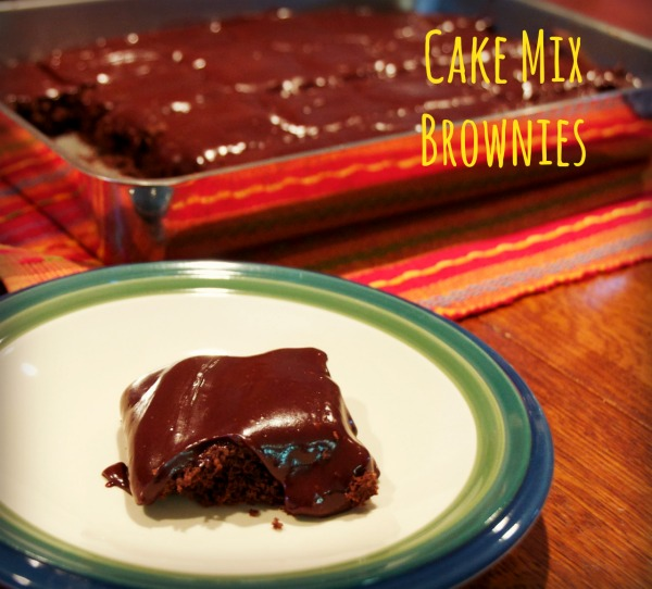 Chocolate Cake Mix Brownies
