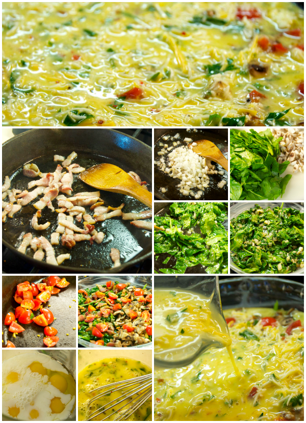 Picture step by step of quiche