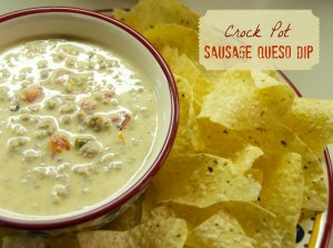Crock Pot Sausage Queso Dip
