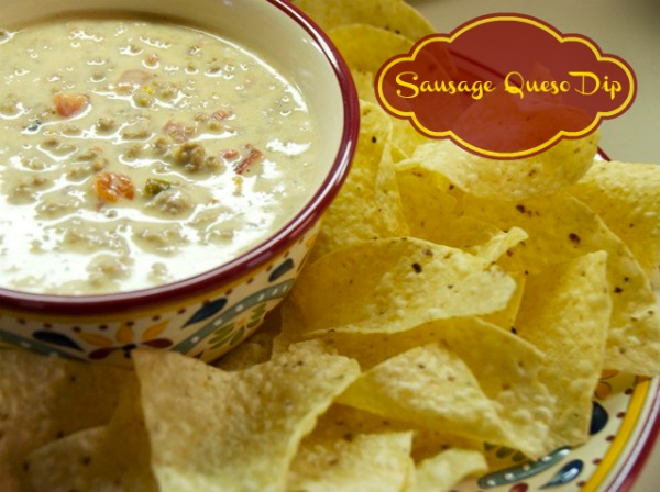 Sausage Queso Dip and Chips