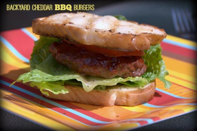 Backyard Cheddar BBQ Burgers
