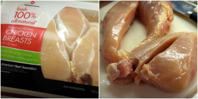 Chicken breasts for bacon wrapped BBQ chicken