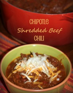 Chipotle Shredded Beef Chili. My new favorite chili recipe.