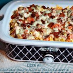 Crock Pot Chicken Bacon Ranch Pizza Casserole recipe is always a favorite around our table. And now that I can make it in the crock pot, it is one of my go-to recipes.