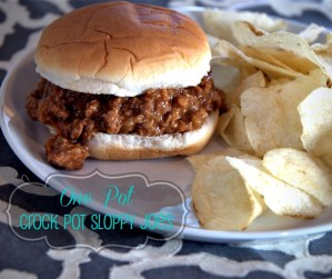 All In the Crock Pot Sloppy Joe