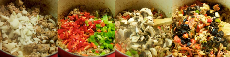 veggies in pizza skillet