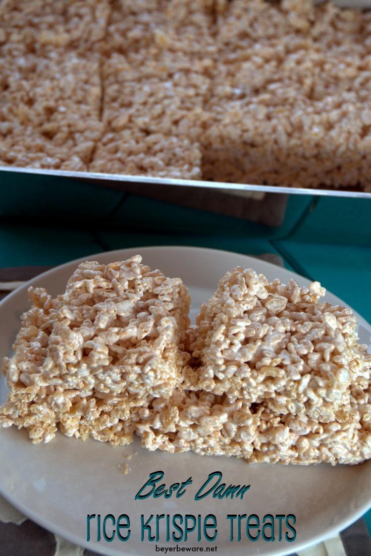Marshmallow Creme Rice Crispy Treats - Beyer Beware