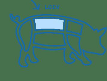 Pork cuts diagram