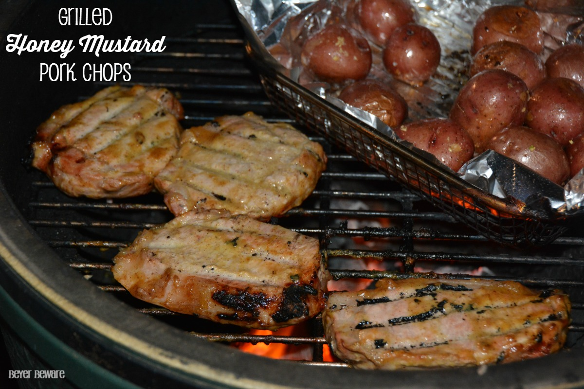 Grilled Honey Mustard Pork Chops are a quick and easy recipe that can be grilled or baked.