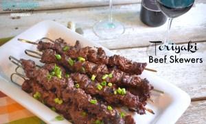 Teriyaki Beef Cube Steak Skewers