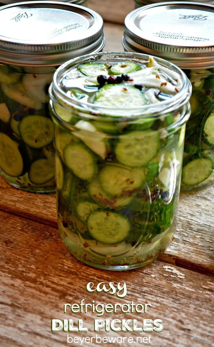 These easy refrigerator dill pickles are quick to make and will disappear out of your fridge just as fast.