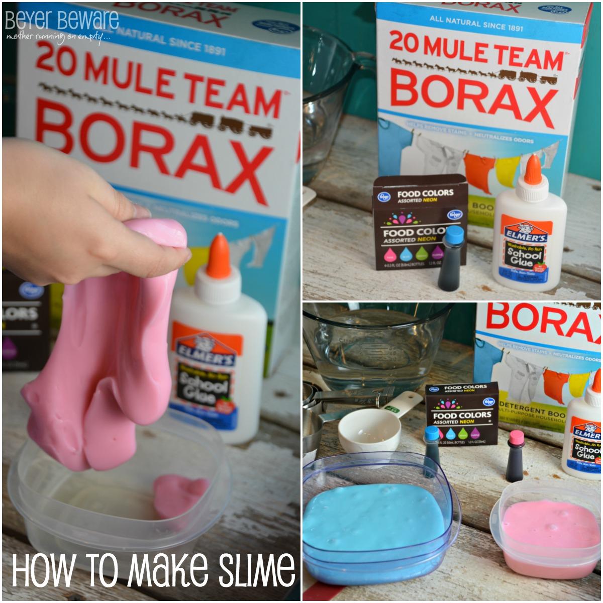 Making slime with Borax