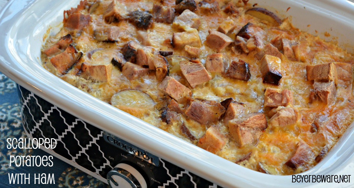 Crock Pot Scalloped Potatoes with Ham