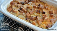 Crock Pot Scalloped Potatoes with Ham recipe is simple to put together and will be a great comforting meal.