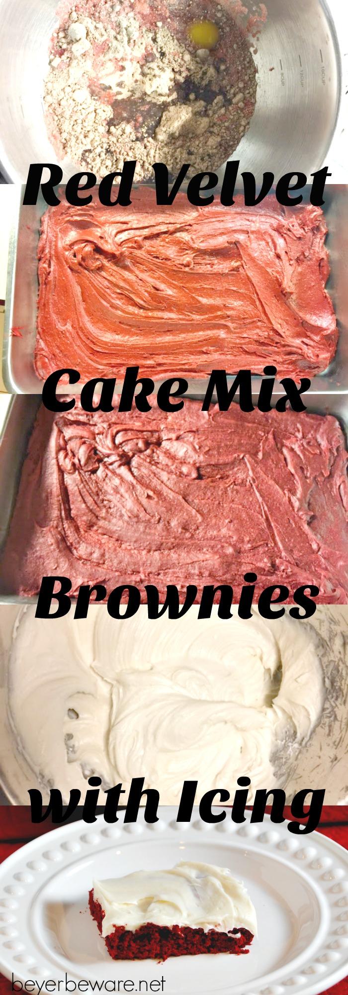 Brownie recipes using red velvet cake mix