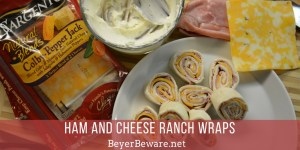 Ham and Cheese Ranch Wraps