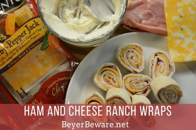 Ham and cheese ranch wraps are staples in our house in the summer. The simple recipe can be made quickly and travels well to where ever the family is going.