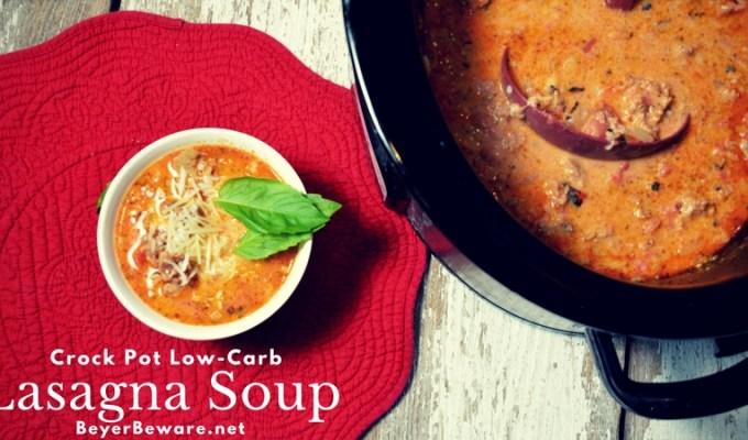 Crock Pot Low-Carb Lasagna Soup