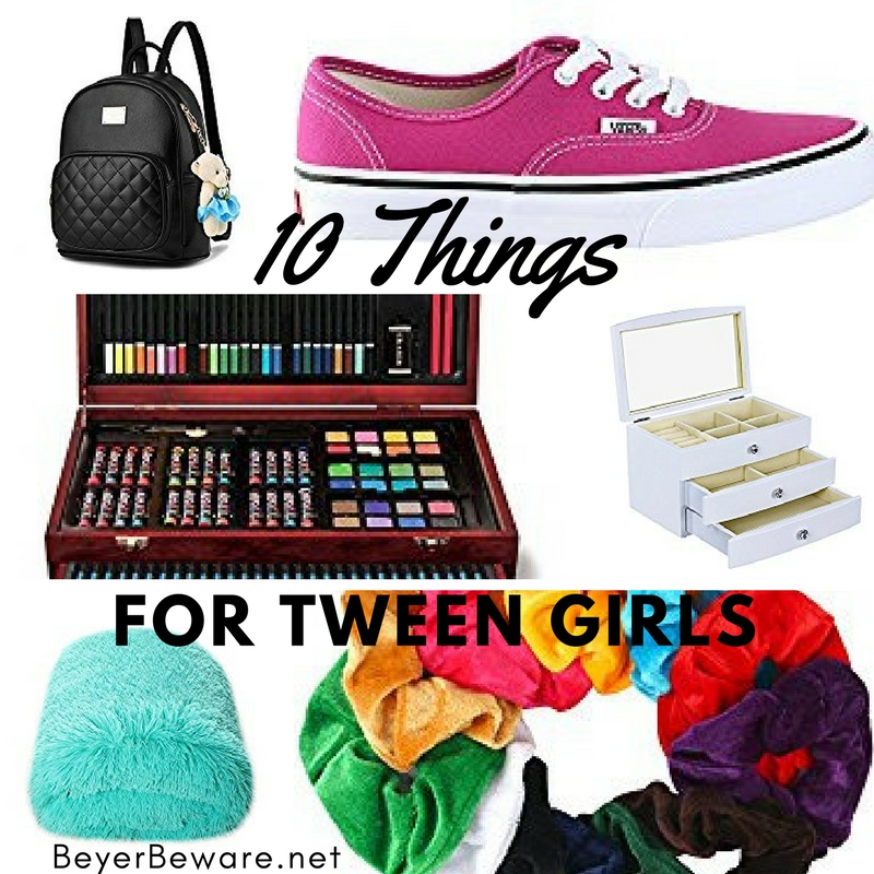 Here are 10 gifts for those 9, 10, 11, 12 year old girls in all different price ranges. After all, we are all looking for things to buy for tween girls.