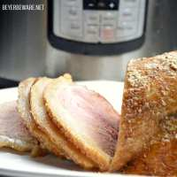 Instant Pot Bourbon Mustard Ham is a spicy and sweet combination of flavors that can be done quickly in the Instant Pot for a great weeknight meal.