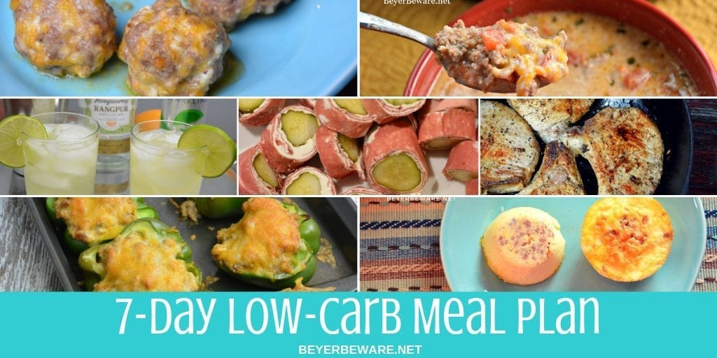 7-Day Low Carb Meal Plan – Featuring Pork