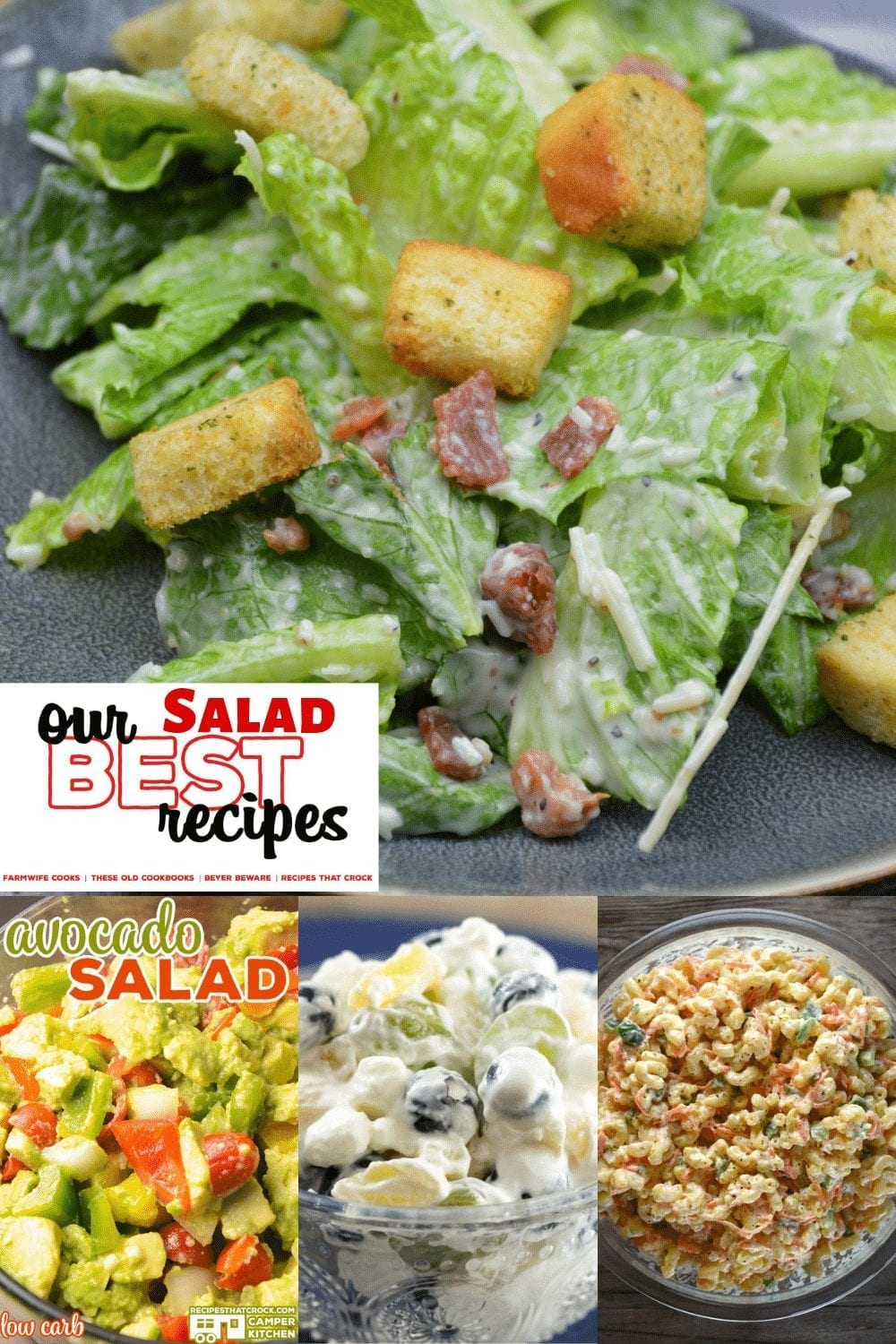 This edition of our best recipes is the best salad recipes from lettuce salads to pasta salads to fruit salads. If you are looking for the best salad recipes, don't miss a single one of our best salad recipes. #Salads #OurBestRecipes #EasyRecipes