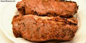 All-American Steaks require two simple ingredients of Italian dressing and Worcestershire sauce to form a marinade that does its job in 30 minutes and ready for a hot grill.