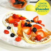 Lemon ricotta pancakes are a fluffy, citrusy pancake made with ricotta, buttermilk, lemon zest and juice to fill these pancakes with a flavor and texture like no other.