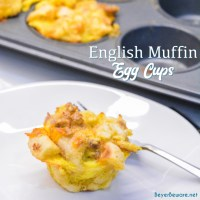 English Muffin Egg Cups - Individual Breakfast Casseroles