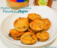 Easy peanut butter banana muffins are fast blender muffin recipe that is made without flour and bakes in under 10 minutes for the ultimate busy morning breakfast packed with tons of protein and vitamins.