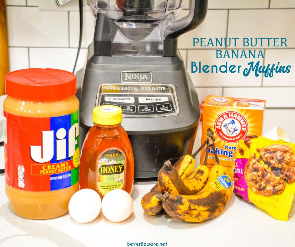 peanut butter banana blender muffin ingredients