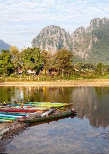 Vangvieng and Nam Song river, Laos