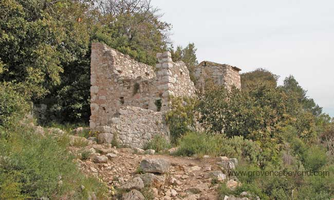 Stone-house ruins on GR5 trail photo