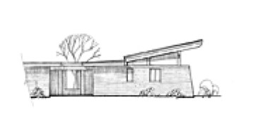 Adobe Flight Style House Side Elevation