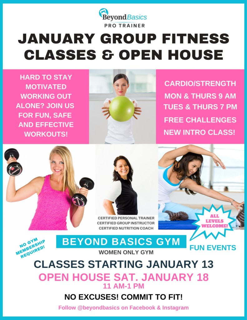 Open House and January Class Schedule