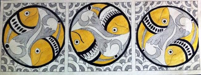 Madhubani Fish Design