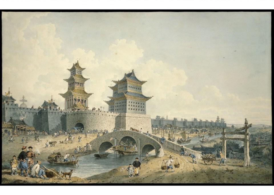 William Alexander - Pingze Men, the Western Gate of Beijing, 1799 via British Museum, licensed through Creative Commons