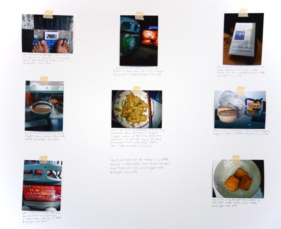 Installation view, Weight Loss Plan (detail) (2011), courtesy Klein Sun Gallery, © Li Liao