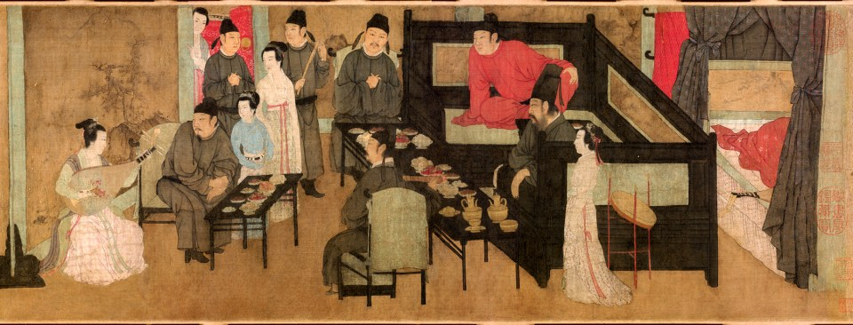 Night Entertainment of Han Xizai (detail). 12th-c. copy of a 10th-c. work. Palace Museum, Beijing (from https://uhpjournals.wordpress.com/2013/11/29/archives-of-asian-art-vol-63-no-1-2013/)