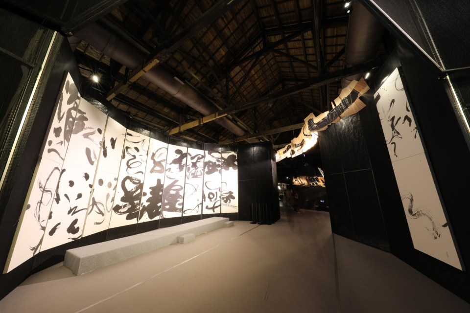 "Inside ""From Ink to Apparel-A Crossover between Calligraphy Art and Fashion Design"" at the World Design Capital Taipei 2016 International Design House Exhibition."