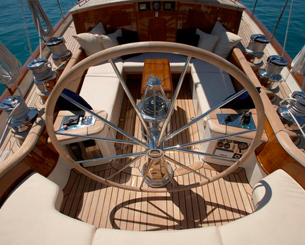 Yacht and sail boat interior design featuring traditional nautical     Motor yacht and sail boat interior design