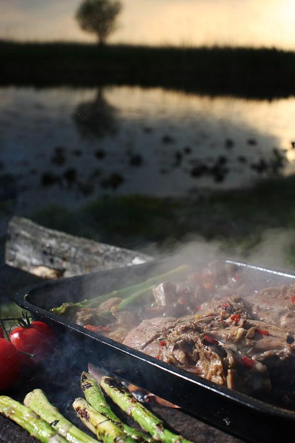 Decor food cu foc Letea 12 m