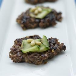 Korean Beef & Nut patties (Tteok-galbi)