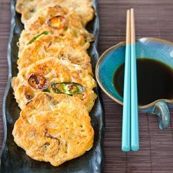 Korean mung Bean Pancakes called bindaetteok