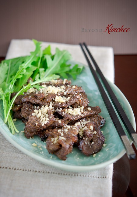 Easy Korean beef called Nuhbiani