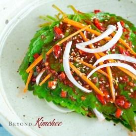 Perilla Leaf Kimchi is a popular summer kimchi in Korea